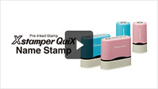 Xstamper QuiX - Pre-Inked stamp making system